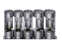 "5PCS 1/2"" DR. OXYGEN SENSOR SOCKET SETS"
