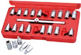 "23 PIECES 3/8""DR DRAIN PLUG KEY & T-BAR"
