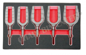 5PC PNEUMATIC SEPERATING FORK CHISEL SET
