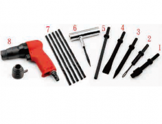 PNEUMATIC WHEEL BEARING AND TIRE REPAIR KIT 8PCS SET (MOTORCYCLE)